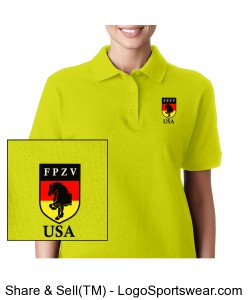 Ladies ANSI Compliant, HI Vis Polo Shirt Design Zoom