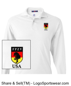 Jerzees Long-Sleeve Jersey Polo with SpotShield Design Zoom
